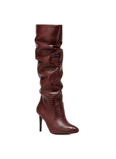 Nine West Çizme Bordo